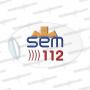 SEM 112 PEGATINAS RESINA EMERGENCIAS OVALADA