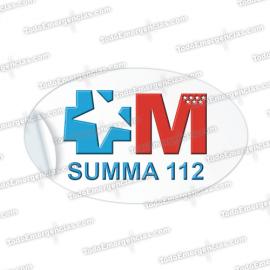 SUMMA 112 PEGATINAS RESINA EMERGENCIAS OVALADA