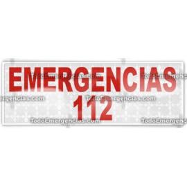 MODULO REFLECTANTE EMERGENCIAS 112 LETRAS ROJAS