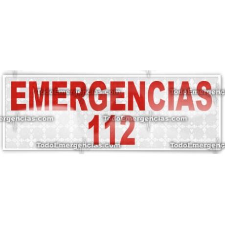 MODULO REFLECTANTE EMERGENCIAS 112 CON LETRAS EN ROJO