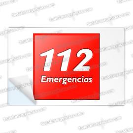 PEGATINAS 112 EMERGENCIAS RESINA EMERGENCIAS RECTANGULARES