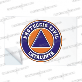 PEGATINAS PROTECCIO CIVIL RESINA EMERGENCIAS RECTANGULARES