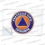 PEGATINAS PROTECCIO CIVIL RESINA EMERGENCIAS RECTANGULARES