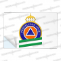 PEGATINAS PROTECCION CIVIL ANDALUCIA RESINA EMERGENCIAS RECTANGULARES