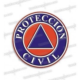 PEGATINAS PROTECCION CIVIL RESINA EMERGENCIAS REDONDAS
