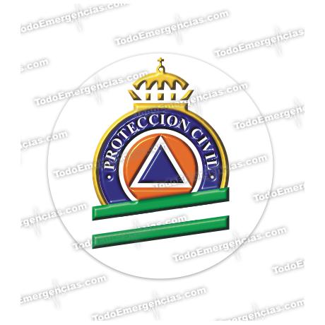 PEGATINAS PROTECCION CIVIL ANDALUCIA RESINA EMERGENCIAS REDONDAS