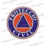 PEGATINAS PROTECCIO CIVIL RESINA EMERGENCIAS REDONDAS