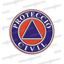 PEGATINAS PROTECCIO CIVIL CATALUNYA RESINA EMERGENCIAS REDONDAS