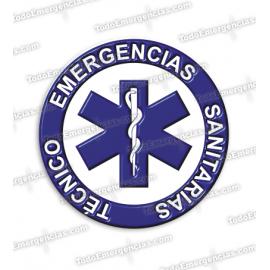 PEGATINAS TES RESINA EMERGENCIAS REDONDAS
