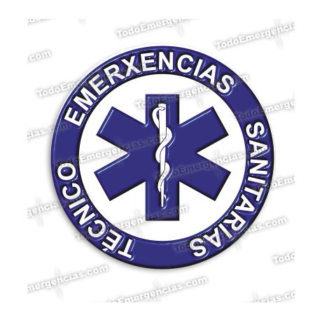 PEGATINAS TES GALLEGO RESINA EMERGENCIAS REDONDAS