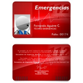 TARJETA EMERGENCIAS PVC 112 EMERGENCIAS