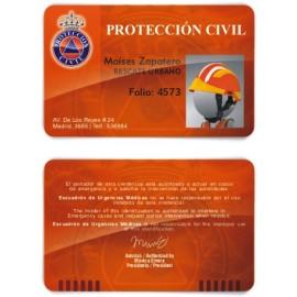 TARJETA EMERGENCIAS PVC PROTECCIÓN CIVIL