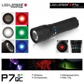 LINTERNA LED LENSER P7QC CUATRO COLORES