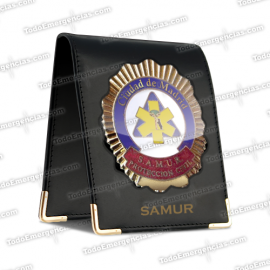 CARTERA + PLACA SAMUR AMARILLA PACK