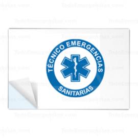 PEGATINAS TES RESINA EMERGENCIAS RECTANGULARES
