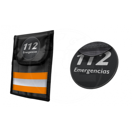 PORTA INSTRUMENTAL REFLECT3 NARANJA CON PARCHE 112 EMERGENCIAS
