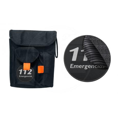 PORTA INSTRUMENTAL SCOUT CON PARCHE 112 EMERGENCIAS CON VELCRO