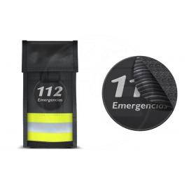 FUNDA MÓVIL REFLECT3 AMARILLA VELCRO HEMBRA PARCHE 112 EMERGENCIAS