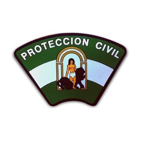 ESCUDO BRAZO PROTECCIÓN CIVIL ANDALUCÍA