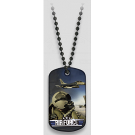 PLACA CON CADENA BOLAS AIR FORCE