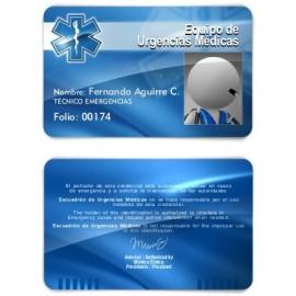 TARJETA EMERGENCIAS BANDA PVC CRUZ VIDA 2