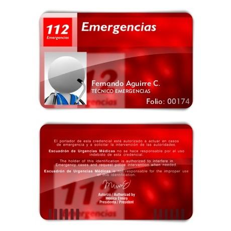 TARJETA EMERGENCIAS PVC
