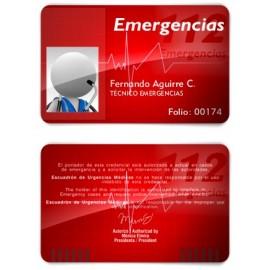 TARJETA EMERGENCIAS BANDA PVC 112 EMERGENCIAS 1