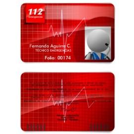 TARJETA EMERGENCIAS BANDA PVC 112 EMERGENCIAS 3