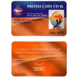 TARJETA EMERGENCIAS BANDA PVC PROTECCIÓN CIVIL 2