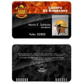 TARJETA EMERGENCIAS BANDA PVC BOMBEROS 1