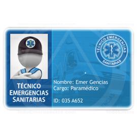 TARJETA EMERGENCIAS PVC TÉCNICO EMERGENCIAS SANITARIAS 2