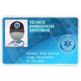 TARJETA EMERGENCIAS PVC TÉCNICO EMERGENCIAS SANITARIAS 3