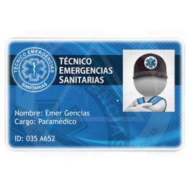 TARJETA EMERGENCIAS BANDA PVC TÉCNICO EMERGENCIAS SANITARIAS 1