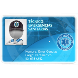 TARJETA EMERGENCIAS BANDA PVC TÉCNICO EMERGENCIAS SANITARIAS 3