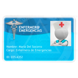 TARJETA EMERGENCIAS PVC ENFERMER@ 1