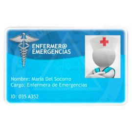 TARJETA EMERGENCIAS BANDA PVC ENFERMER@ 1