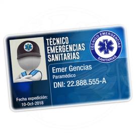 TARJETA EMERGENCIAS BANDA PVC TÉCNICO EMERGENCIAS SANITARIAS 4