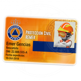 TARJETA EMERGENCIAS PVC REMER PC 1