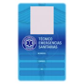 TARJETA VERTICAL BANDA PVC TÉCNICO EMERGENCIAS SANITARIAS 5