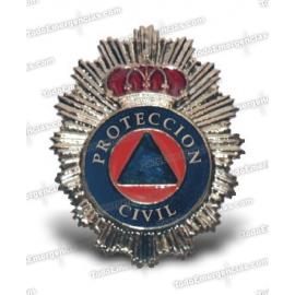 PLACA METALICA PROTECCION CIVIL CON ALFILER
