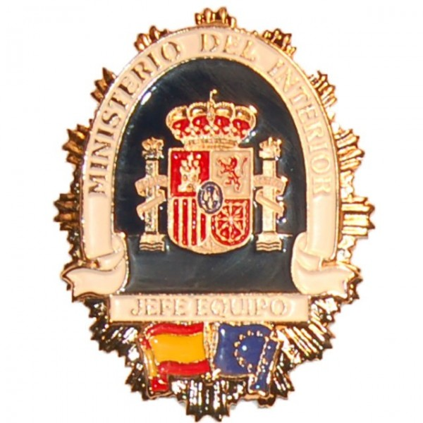 Placa metalica ministerio del interior jefe de equipo for Director de seguridad ministerio del interior