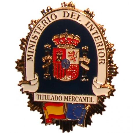 PLACA METALICA MINISTERIO DEL INTERIOR TITULADO MERCANTIL