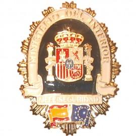 PLACA METALICA MINISTERIO DEL INTERIOR JEFE DE SEGURIDAD