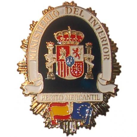 PLACA METALICA MINISTERIO DEL INTERIOR PERITO MERCANTIL