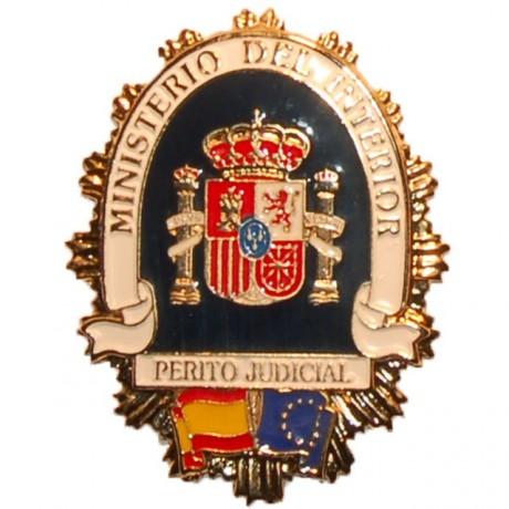 PLACA METALICA MINISTERIO DEL INTERIOR PERITO JUDICIAL