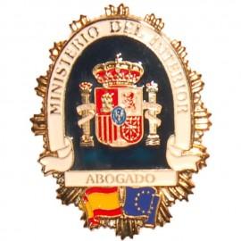 PLACA METALICA MINISTERIO DEL INTERIOR ABOGADO