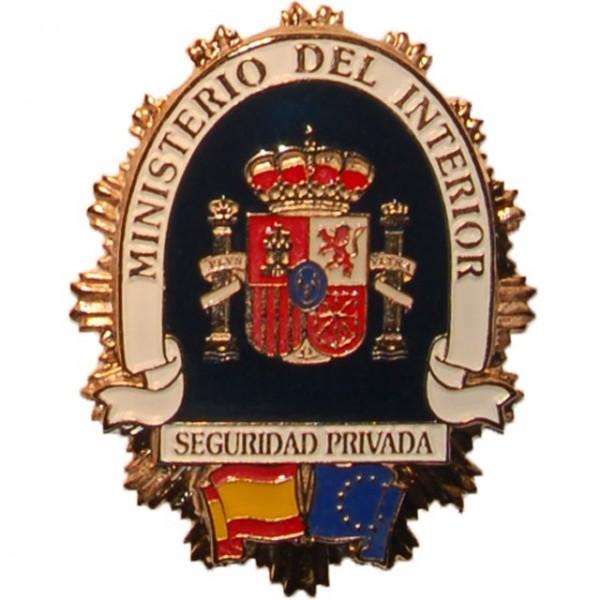 Placa metalica ministerio del interior seguridad privada for Director de seguridad ministerio del interior