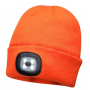 GORRO NARANJA A.V. DOBLE LUZ LED RECARGABLE