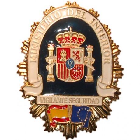 PLACA METALICA MINISTERIO DEL INTERIOR VIGILANTE SEGURIDAD