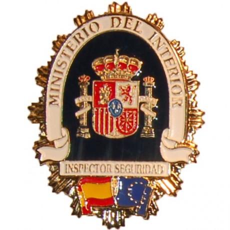 PLACA METALICA MINISTERIO DEL INTERIOR INSPECTOR DE SEGURIDAD